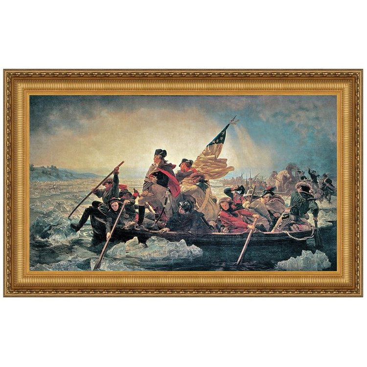 View larger image of Washington Crossing the Delaware, 1851: Canvas Replica Painting