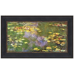 Water Lilies, 1919: Canvas Replica Painting: Small