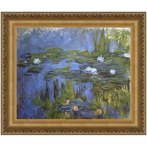 Water Lilies, 1915: Canvas Replica Painting: Small