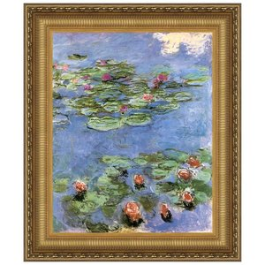 Water Lilies, 1917: Canvas Replica Painting: Small