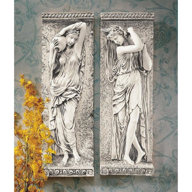 View larger image of Water Maidens Wall Sculpture Set of 2