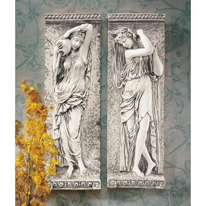 Water Maidens Wall Sculpture Set of 2
