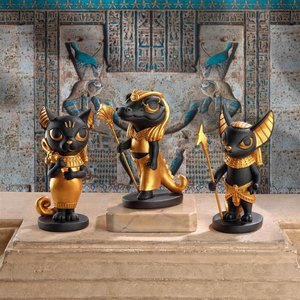 Wee Gods of the Egyptian Realm Statue Set of Three