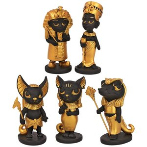 Wee Gods and Rulers of the Egyptian Realm Statue Set of Five