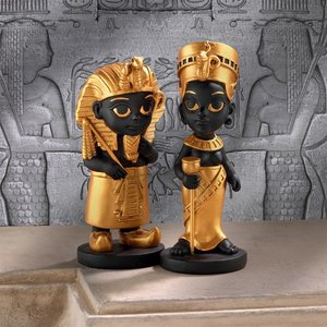 Wee Rulers of the Egyptian Realm Statue Set of Two