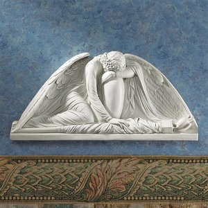 Weeping Angel Wall Pediment: Set of Two