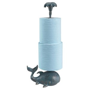Whale of a Tale Sculptural Iron Paper Towel Holder