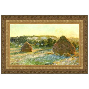 Wheatstacks (End of Summer), 1891: Canvas Replica Painting: Large