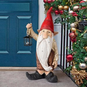Wheezer, Santa's Keeper of the Light Holiday Gnome Statue
