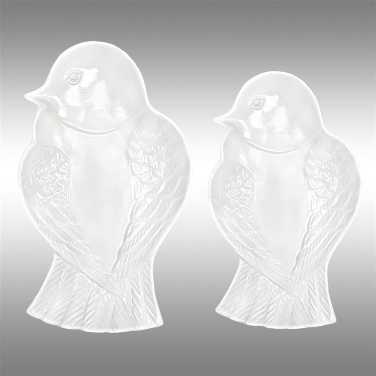 View larger image of White Bird Ceramic Dishes: Set of Two