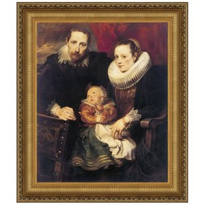 Wildens Family Portrait, 1621: Canvas Replica Painting: Small