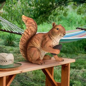 Wily and Wirral of the Forest Squirrel Statues
