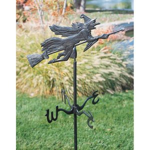 Windblown Wicked Witch Metal Weathervanes