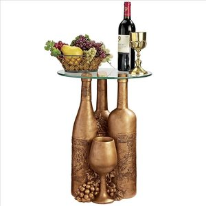 Wine and Dine Sculptural Glass-Topped Table