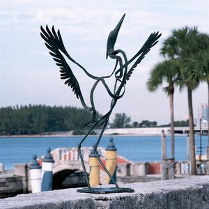 Winged Salute to the Sun Bronze Statue