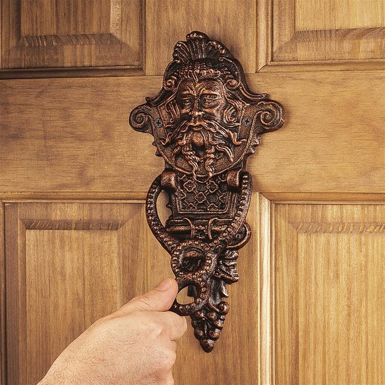 View larger image of Winthrop Manor Greenman Authentic Foundry Iron Door Knocker