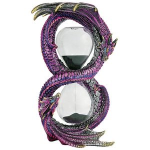 Witness to Time Gothic Dragon Sculptural Sandtimer Hourglass