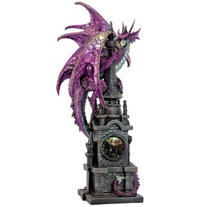 The Wizard s Dragon of Bulwark Tower Statue
