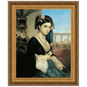 Woman of the Orient, 1840: Canvas Replica Painting: Medium