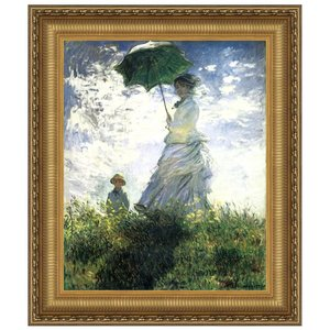 Woman with a Parasol, 1875: Canvas Replica Painting: Small