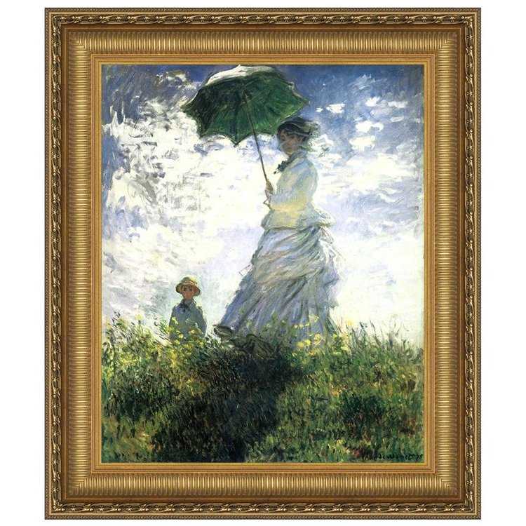 View larger image of Woman with a Parasol, 1875: Canvas Replica Painting: Medium