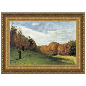 Woodgatherers at the Edge of the Forest, 1863: Canvas Replica Painting: Medium