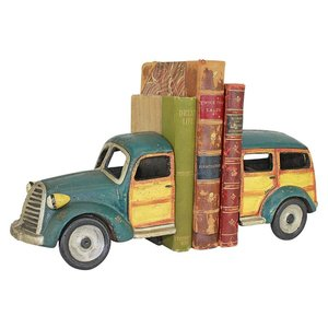 Woodie Wagon Cast Iron Sculptural Bookend Pair