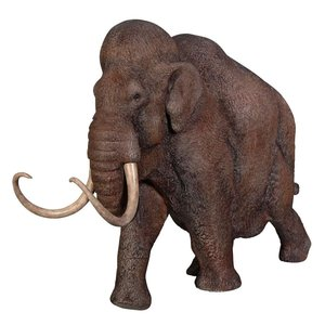 Woolly Mammoth, Elephant of the Ice Age Scaled Statue