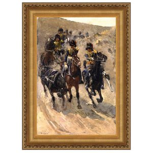 Yellow Riders Canvas Painting Small