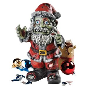 Zombie Claus Holiday Statue